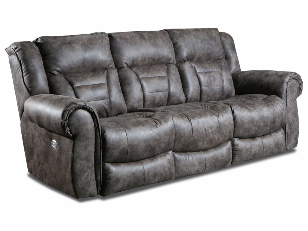 Southern Motion TitanDouble Reclining Pwr Headrest Sofa w/ SoCozi