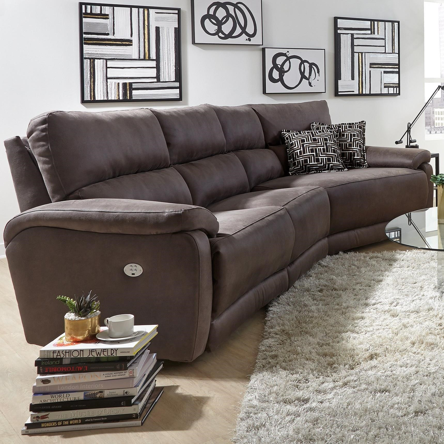 Southern Motion Top SecretThree And 1/2 Seat Sectional Sofa ...