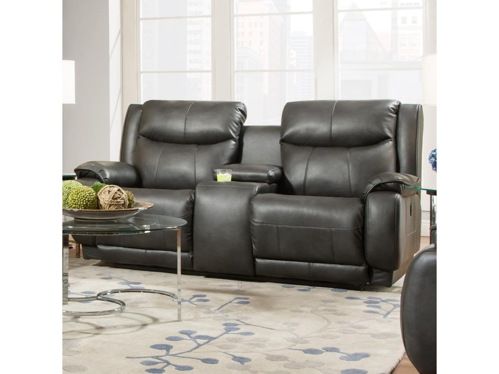 Southern Motion VelocityPower Plus Double Reclining Console Loveseat