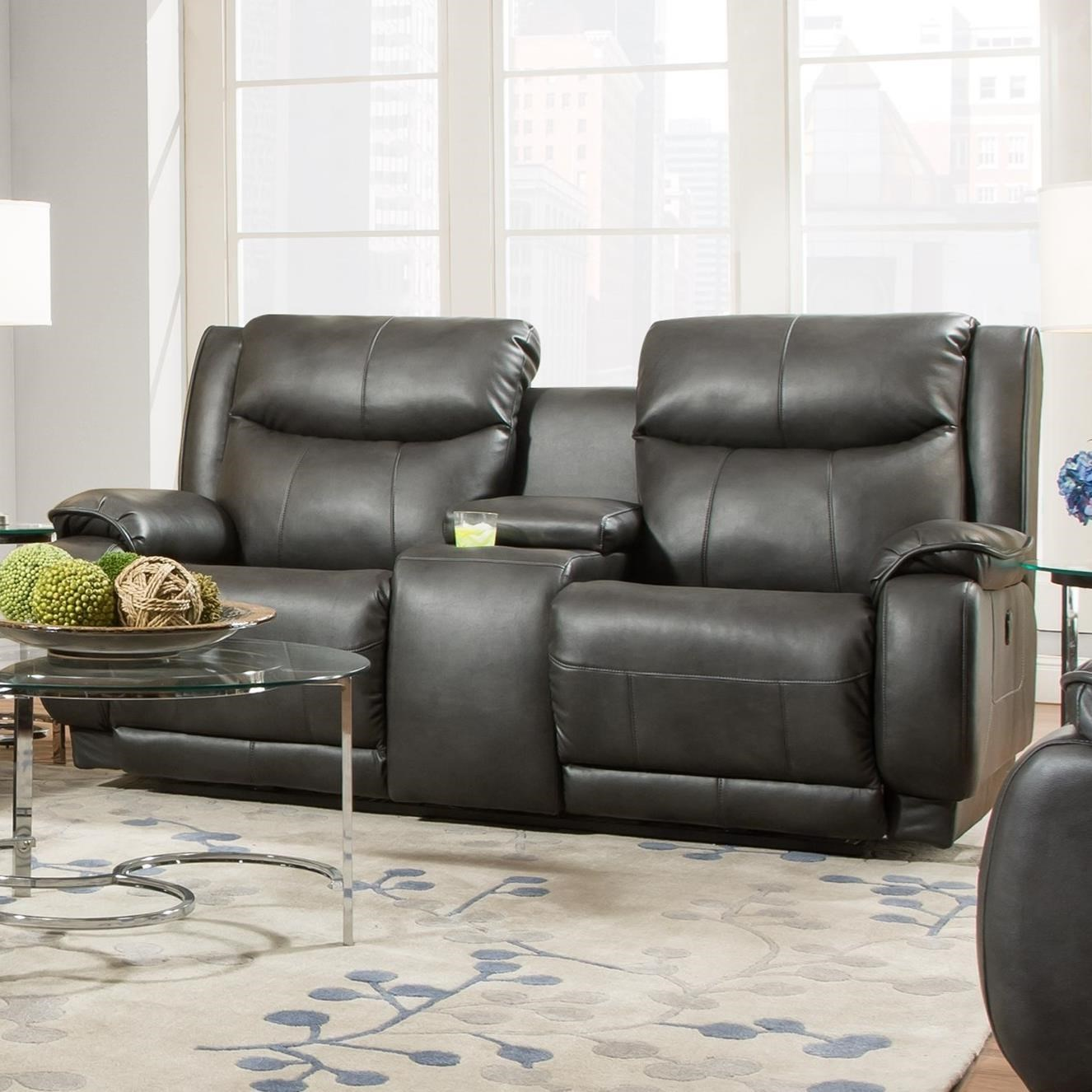 Southern Motion VelocityReclining Console Sofa With Power Headrest ...