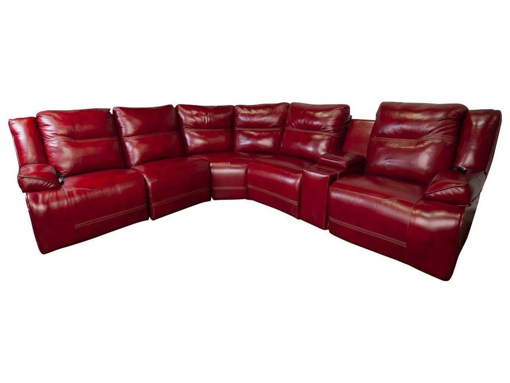 Wenzel Wenzel Power Leather Match Sectional