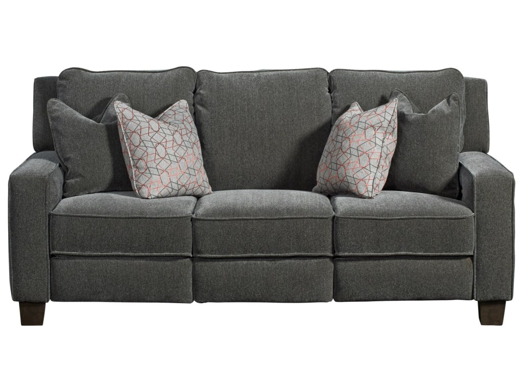 Southern Motion West EndPower Headrest Sofa with Pillows