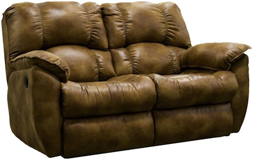 Southern Motion Weston Casual Rocking Reclining Loveseat with Pillow Arms