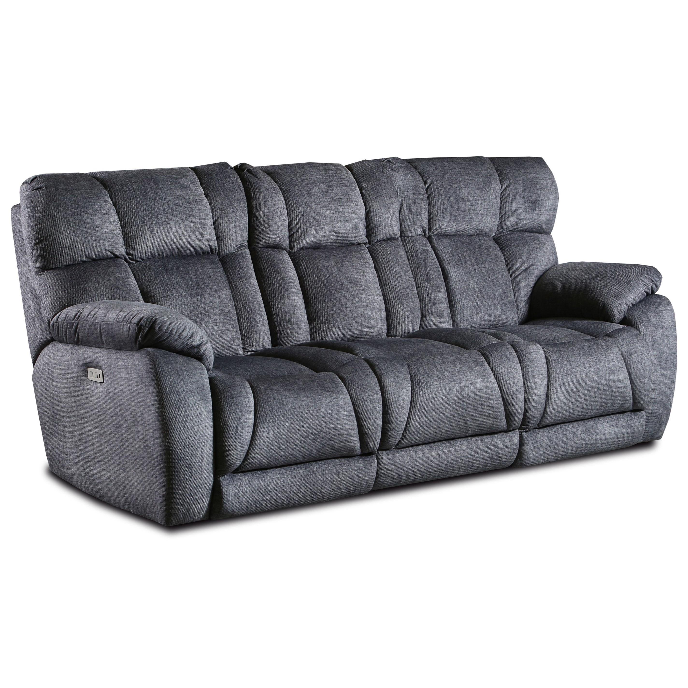 Casual Power Headrest Double Reclining Sofa w/ Dropdown Table