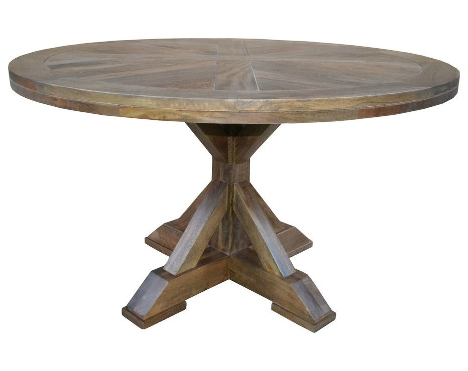 Southern Sky Home Drake Round Single Pedestal Dining Table - Drake coffee table