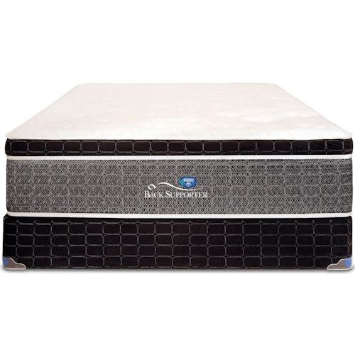 Spring Air 90th Anniversary Euro Top King Euro Top Pocketed Coil Mattress and Steel Foundation