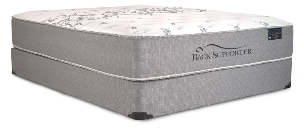 Spring Air Back Supporter Governor Queen Firm Hybrid Mattress And