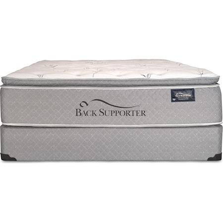 Queen Super Pillow Top Mattress Set