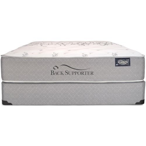 Spring Air BS  Breeze Queen Plush Mattress and Eco-Wood Base