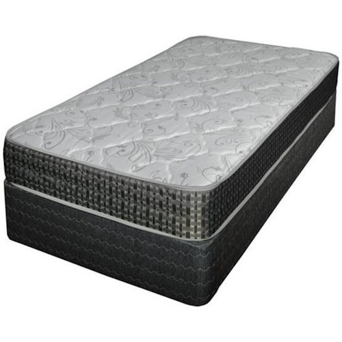 Spring Air Caroline Pillow Top Twin Extra Long Pillow Top Mattress and Eco-Wood Foundation