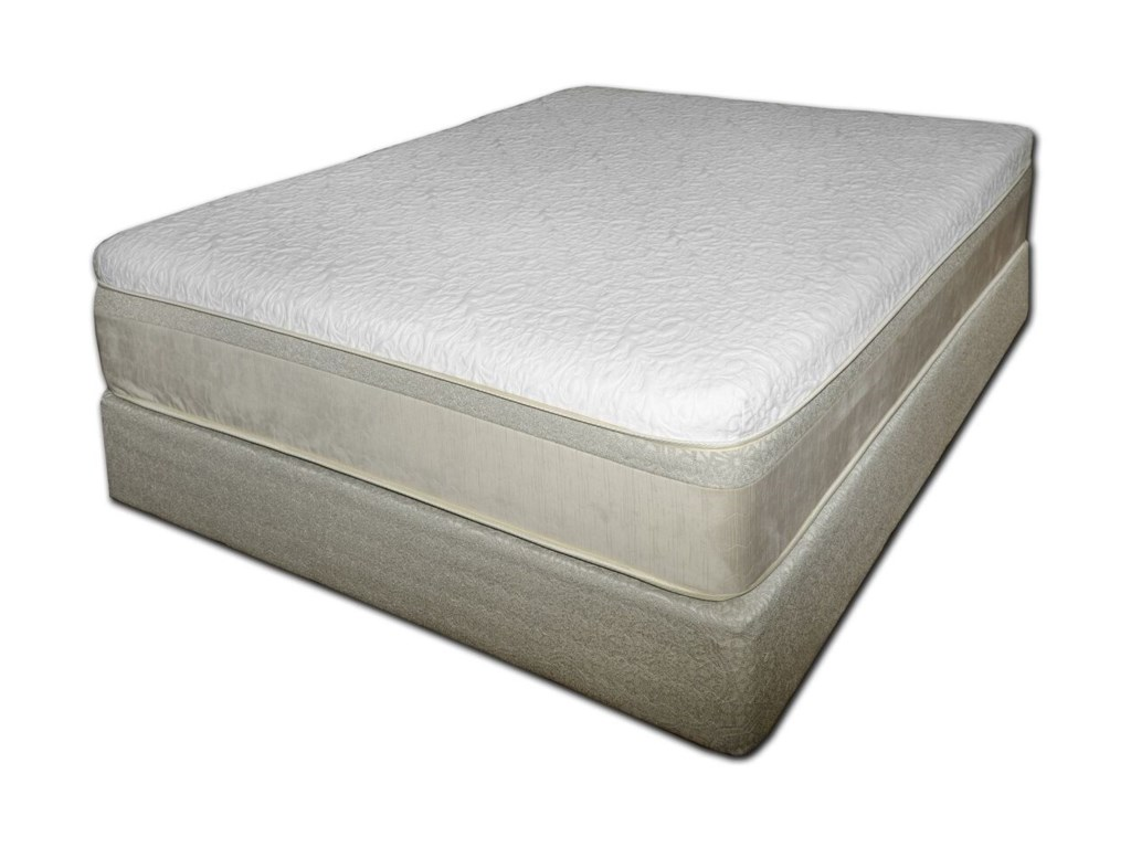 Chattam And Wells Hybrid Latex King Coil On Mattress Tan Foundation By Spring Air