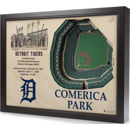 DETROIT TIGERS STADIUMVIEW 3D WALL ART - COM