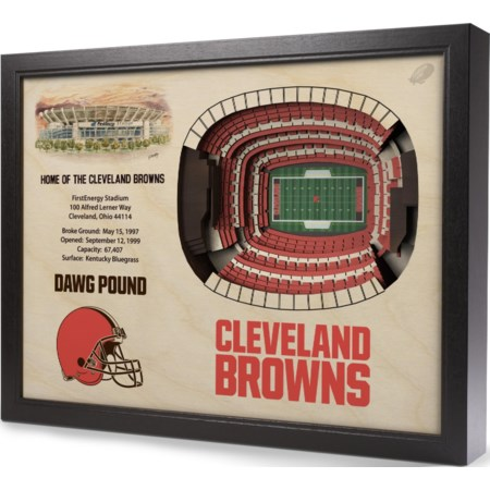 CLEVELAND BROWNS STADIUMVIEW 3D WALL ART - F