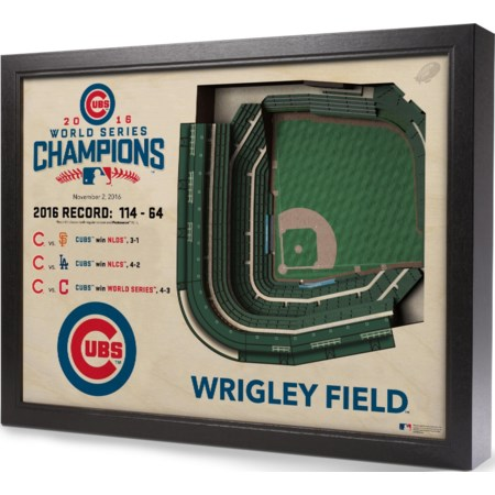 CHICAGO CUBS STADIUMVIEW 3D WALL ART - WRIGL