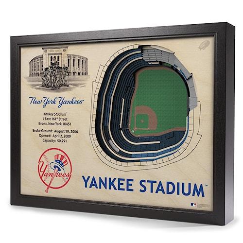 StadiumViews Wall Art NEW YORK YANKEES STADIUMVIEW 3D WALL ART ...