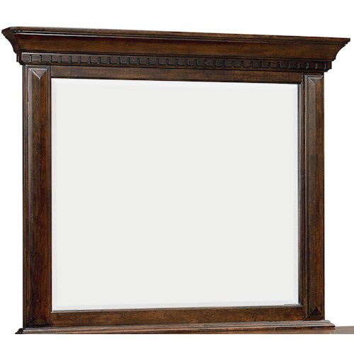 Standard Furniture Charleston Dresser Mirror with Dentil Molding