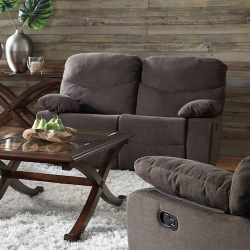 Standard Furniture 418 Reclining Loveseat with Pillow Arms