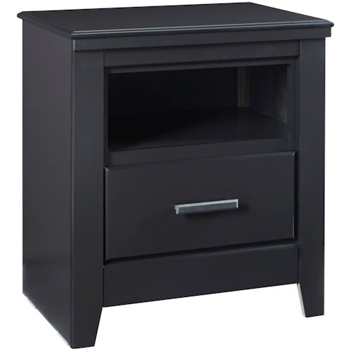 Zenith Modesto Casual Nightstand with Open Cubby