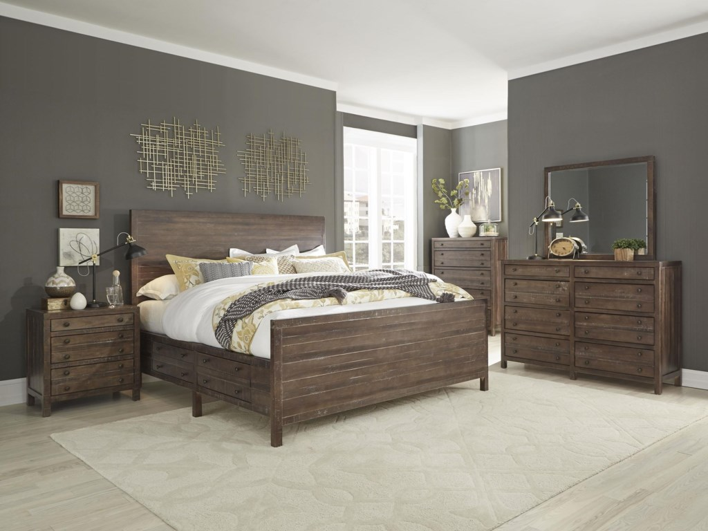 Standard Furniture 80700King Panel Storage Bed