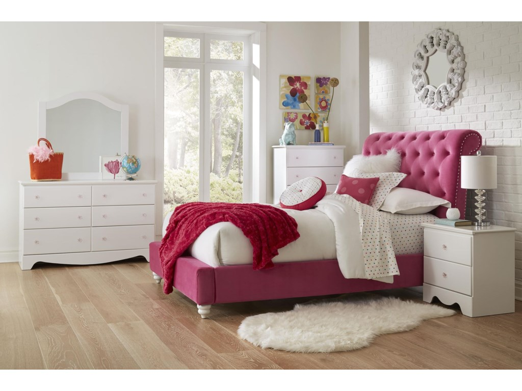 Standard Furniture GabbyTwin Pink Upholstered Bed
