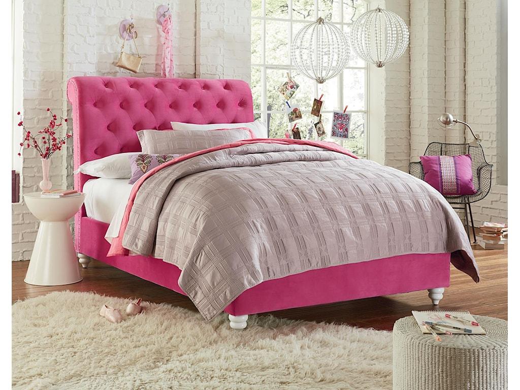 Standard Furniture GabbyFull Pink Upholstered Bed