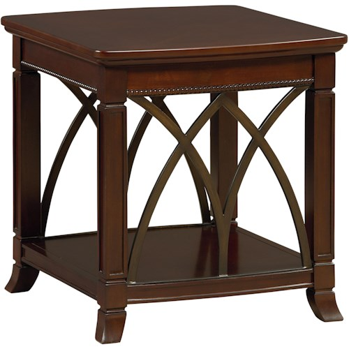 Standard Furniture Abbey End Table with Shelf