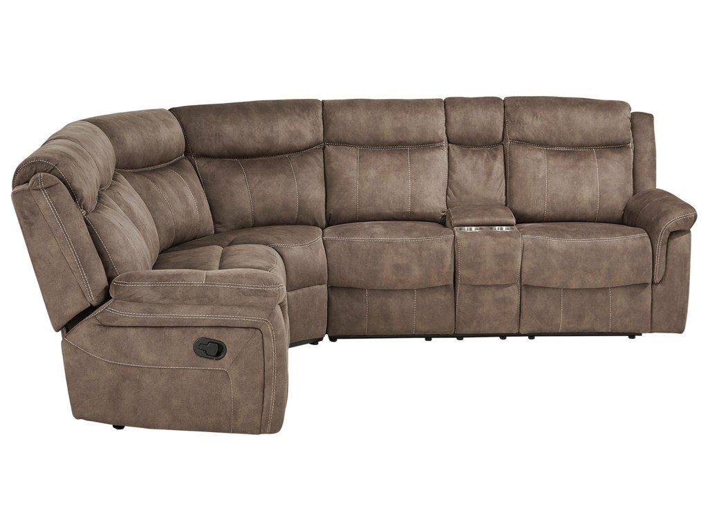 Standard Furniture Addisen4 Seat Reclining Sectional Sofa