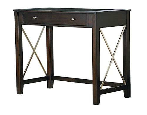 Standard Furniture Alexander Wine Bar with Bottle Storage and X-Details
