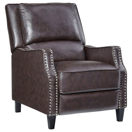 Standard Furniture Alston Sleek Recliner With Tight Upholstery And