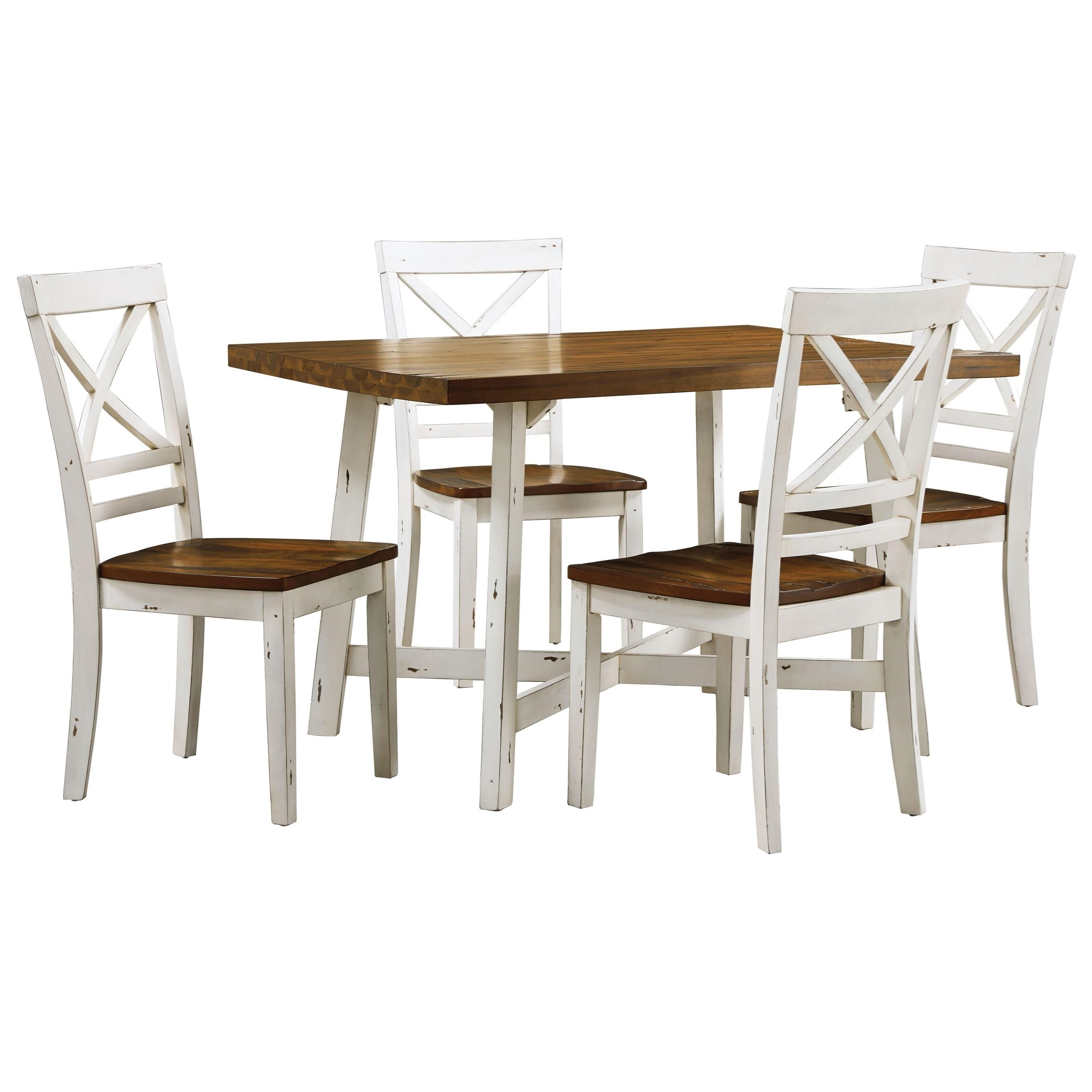 Standard Furniture AmeliaTable and Chair Set ...  sc 1 st  Great American Home Store & Standard Furniture Amelia 19082 Two-Tone Table and Chair Set | Great ...