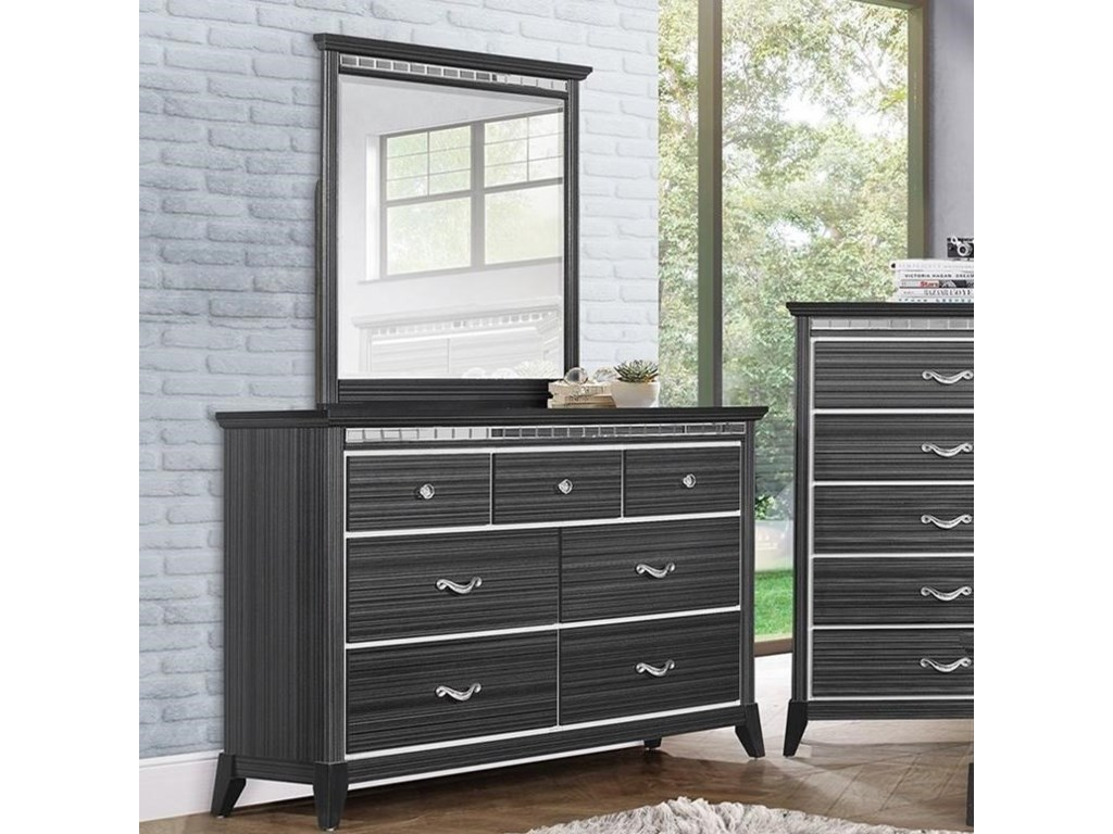Standard Furniture AnaheimDresser and Mirror Combination
