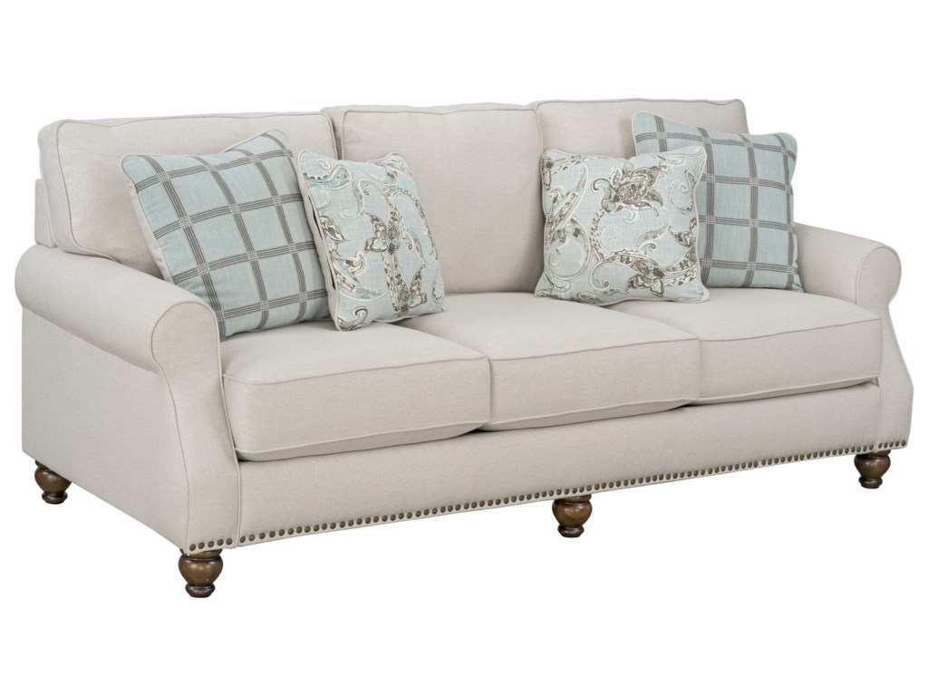 Angelina Transitional Sofa With Nailhead Trim Base By Standard Furniture At Zak S Home