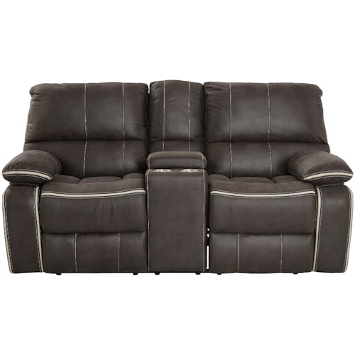 Standard Furniture Arlington Dual Reclining Loveseat With Storage Console And Cupholders