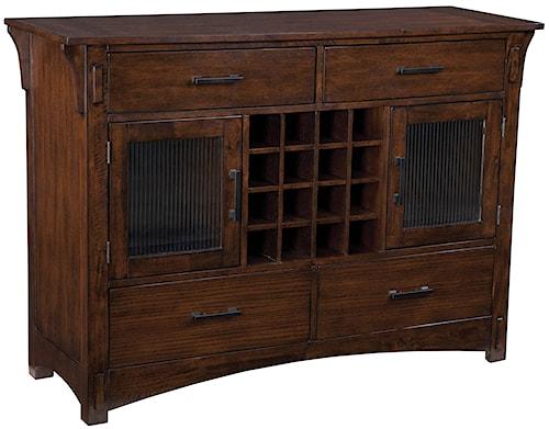 Standard Furniture Artisan Loft 2 Door Buffet Server with 16 Bottle Wine Rack