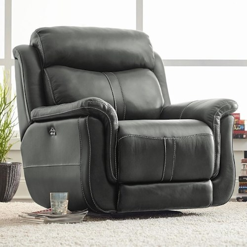 Standard Furniture Ashton Glider Recliner with Pillow Top Arms