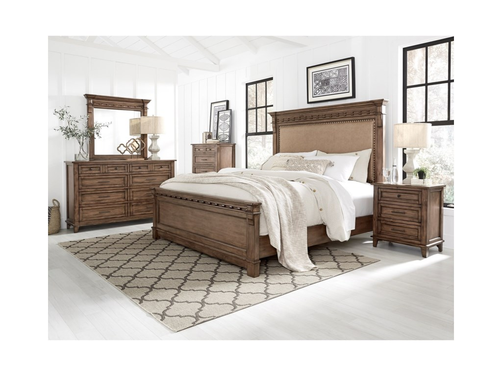Standard Furniture Aspen Cottage5 Pc Aspen Brown Bedroom Group