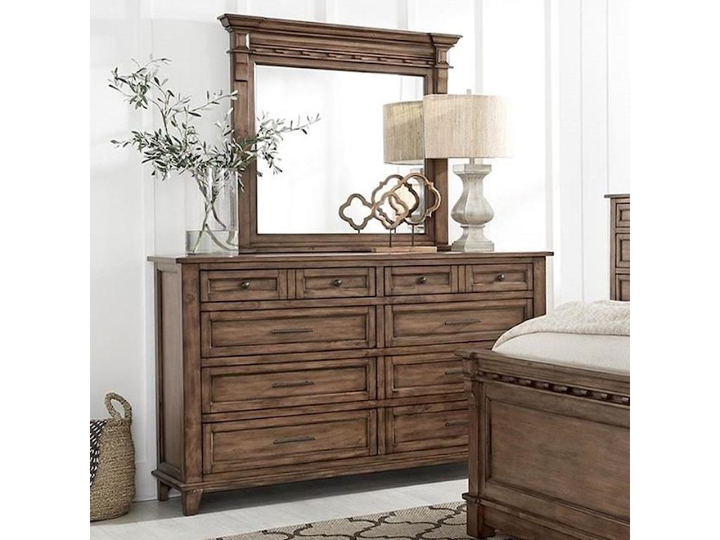 Standard Furniture Aspen CottageDresser and Mirror Combination