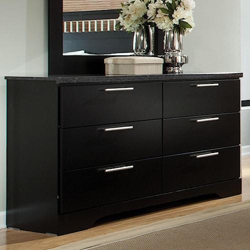 Standard Furniture Atlanta Rectangular 6 Drawer Dresser