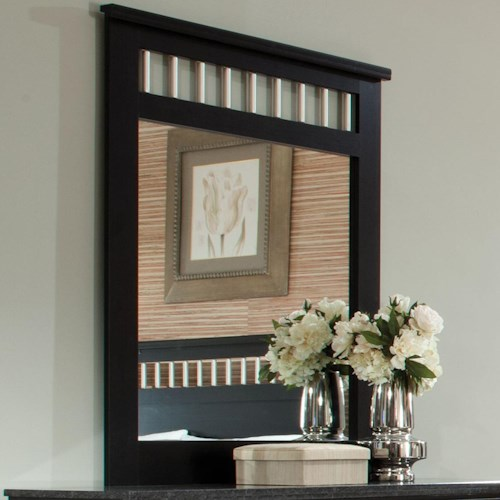 Standard Furniture Atlanta Panel Mirror with Vertical Tubular Bars