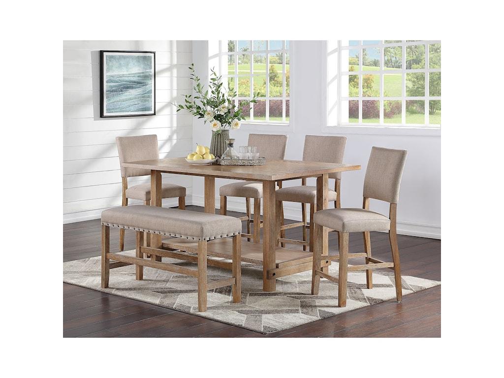 Standard Furniture Aubrun HoneyCounter Height Dining Table