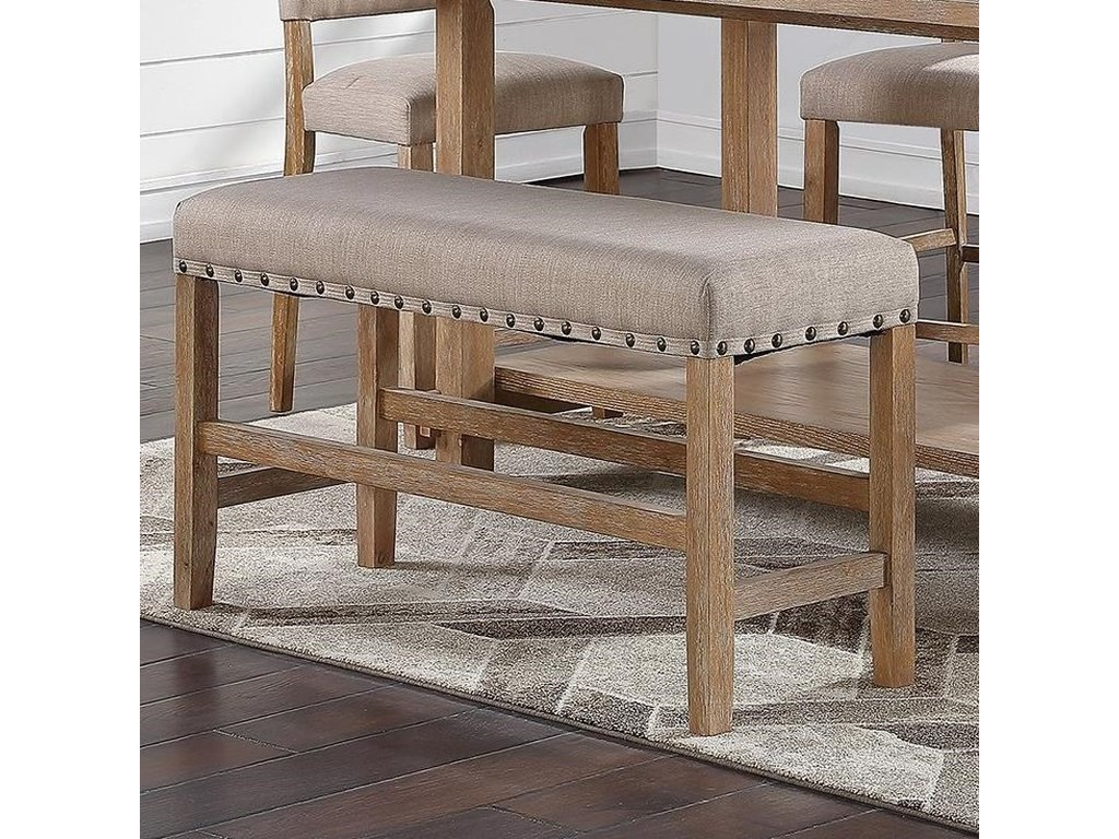 Standard Furniture Aubrun HoneyCounter Height Dining Bench