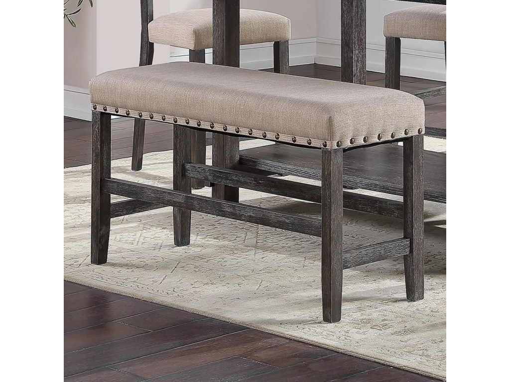 Standard Furniture Aubrun CharcoalCounter Height Dining Bench
