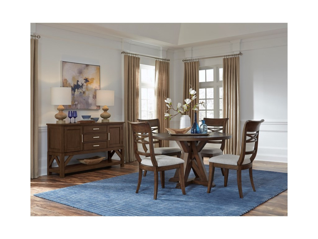 Standard Furniture Beckman Brown5-Piece Table and Chair Set