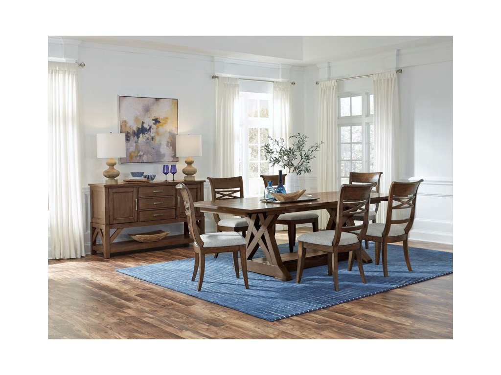 Standard Furniture Beckman Brown7-Piece Table and Chair Set