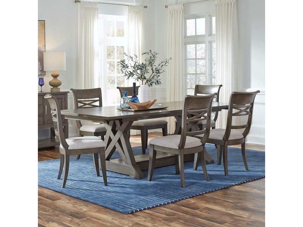 Standard Furniture Beckman Grey7-Piece Table and Chair Set