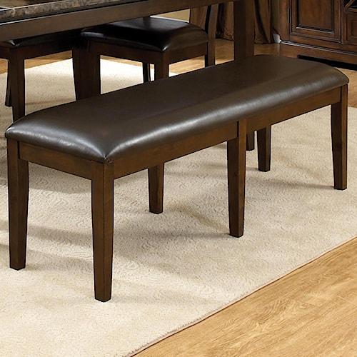 Standard Furniture Bella Upholstered Brown Bench