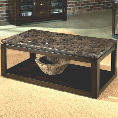 Standard Furniture Bella Cocktail Table with Faux Marble Top