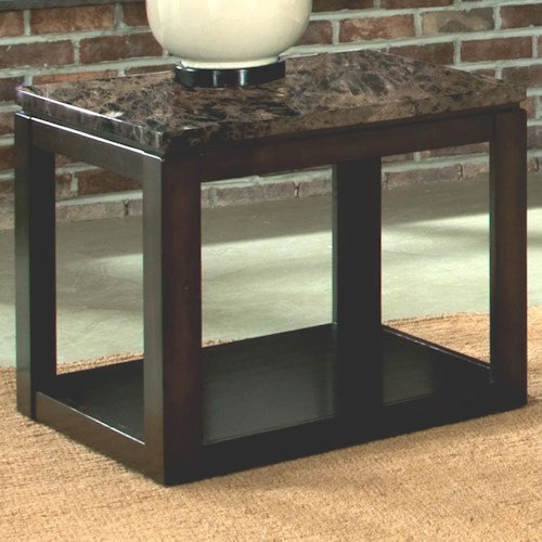 Standard Furniture Bella End Table with Faux Marble Top