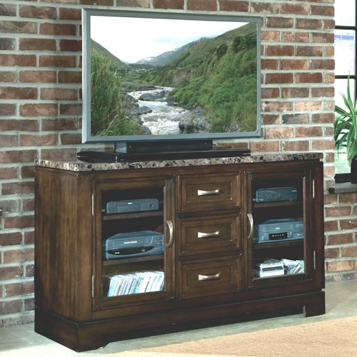 Standard Furniture Bella TV Console with Faux Marble Top