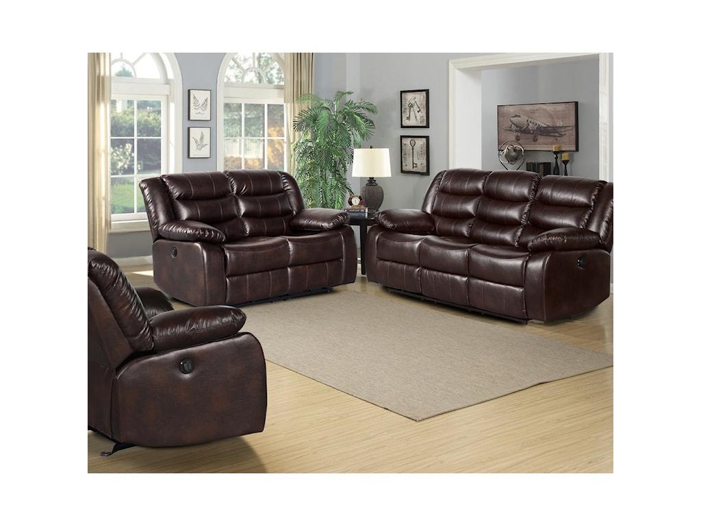 Standard Furniture BennetReclining Living Room Group
